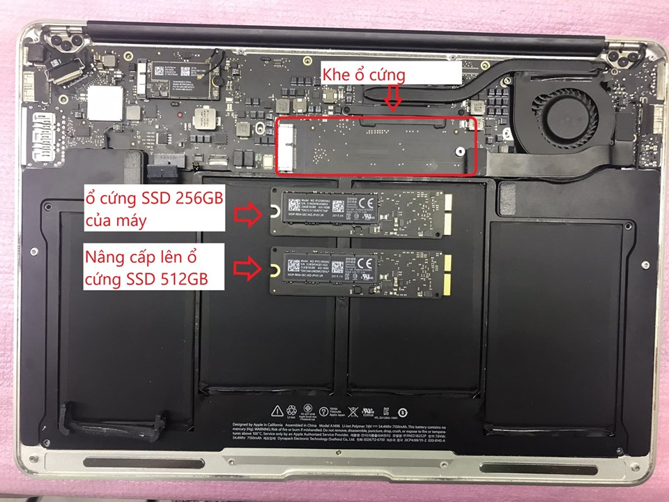 Macbook Pro SSD Upgrade in Ho Chi Minh
