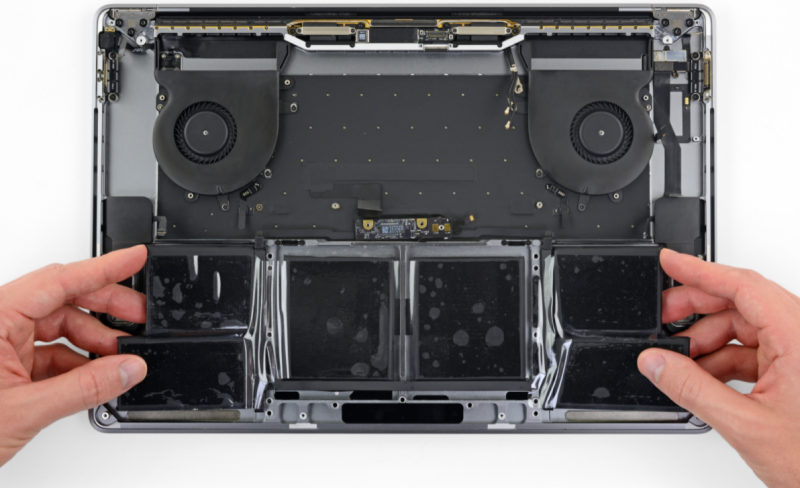 MacBook Pro 15 2018 A1990 Battery Replacement